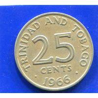 Тринидад и Тобаго 25 центов 1966