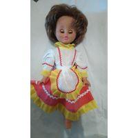 Кукла времен ссср, с дефектом, нет ножки