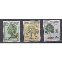 Чехия 1993 Деревья - Охрана Природы Флора серия **