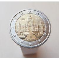 """2 евро Германия 2016 """"Саксония"""", J"""