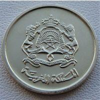 """Марокко. 5 сантимов 1423 (2002) год   Y#112   """"Гибискус"""""""