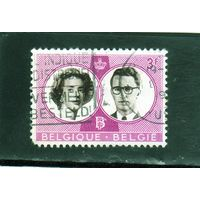 Бельгия.Ми-1229. Свадьба бельгийского короля Бодуэна и испанки Фабиоле де Мора и Арагон (королева Фабиола) .1960.