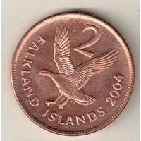 Фолклендские острова 2 пенс 2004