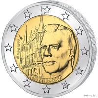 2 евро 2007 Люксембург Дворец Великих герцогов UNC из ролла
