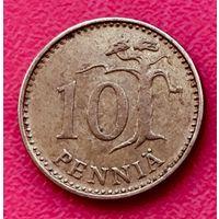 10-13 Финляндия, 10 пенни 1972 г.