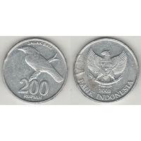 Индонезия km66 200 рупий 2003 год (al)(f14)