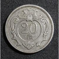 Австрия 20 геллеров, 1894