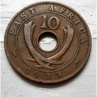 Британская Восточная Африка 10 центов, 1933  2-3-23