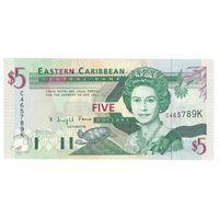Сент-Китс и Невис 5 долларов образца 1993 года. Состояние UNC!