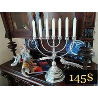 Непростой Подсвечник Менора 7 - свечей / Jewish Candlestick