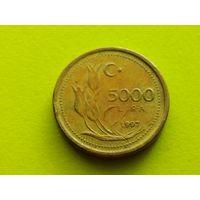 Турция. 5000 лир 1997.