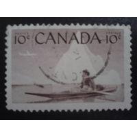 Канада 1955 эскимос на каяке