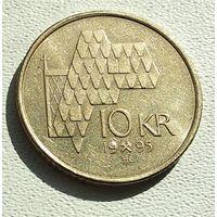 Норвегия 10 крон, 1995 4-16-8