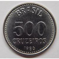 Бразилия 500 крузейро 1986 г