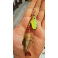 Блесна SPINNER 10 грамм, вертушка с рыбкой для рыбалки на спиннинг