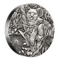 Австралия 2 доллара 2017г. Коала. Монета в подарочном футляре; номерной сертификат; коробка. СЕРЕБРО 62,27гр.(2 oz).