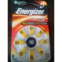 Упаковка батареек Energizer для слуховых аппаратов