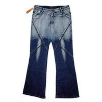 Модные качественные расклешенные джинсы большого размера 50-52 (34) Sidanli (Италия), стрейч, новые