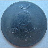 Бразилия 5 сентаво 1969 г. (d)