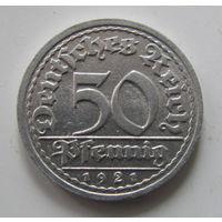 50 пфенигов 1921 J в ЛЮКСЕ.