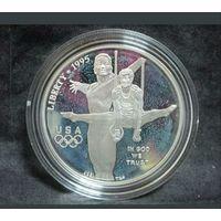 США 1 доллар 1995 P. Олимпиада в Атланте. Гимнастика
