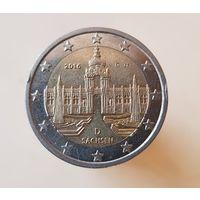 """2 евро Германия 2016 """"Саксония"""", G"""