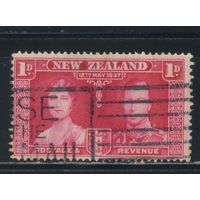 GB Новая Зеландия 1937 GVI Коронация Омнибус #232