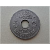 Египет 5 миллимов 1917
