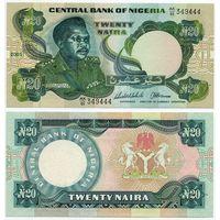 Нигерия. 20 найра (образца 2005 года, P26i, UNC)