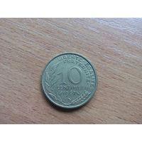 10 сантимов 1967 Франция KM# 929 алюминиевая бронза