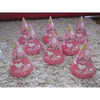 Колпаки Hello Kitty для праздника, 8 штук