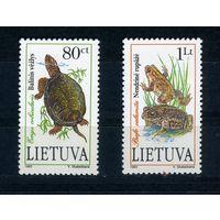 Литва, 1993г. черепаха и лягушка, 2м.