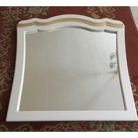 Зеркало в раме Белое с золотом