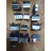 Радиаторы охлаждения компьютерные с кулером разные (цена за штуку от 5р)