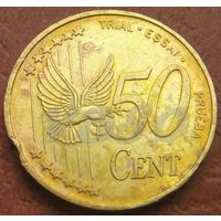 5097:  50 центов 2002 Дания PROVE MUSTER