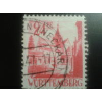 Германия 1947 Вюртемберг фр. зона монастырь