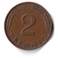 Германия. 2 пфеннига. 1984 F