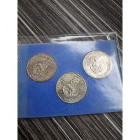 США три монеты по 1 доллару