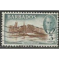 Барбадос. Король Георг VI. Общественные здания. 1950г. Mi#186.