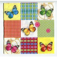 Салфетка для декупажа. Летняя, бабочки. 33х33 см