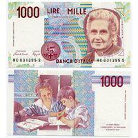 Италия. 1000 лир (образца 1990 года, P114a, UNC)