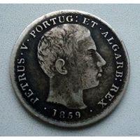 Португалия. 500 рейс 1859 г.