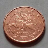 5 евроцентов, Литва 2015 г., AU