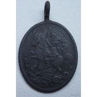 Старинная нательная иконка-образок Святой  Великомученик Георгий Победоносец