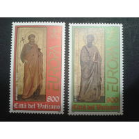 Ватикан 1998 Европа, апостолы Петр и Павел, статуи 14 века