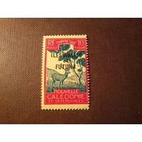 Новая Коледония 1930  г.Надпечатка Уоллис и Футуна.Индийский замбар.
