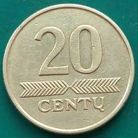 20 центов 1998 ЛИТВА