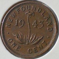 Ньюфаундленд, 1 цент 1943 года (С), Георг VI