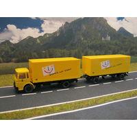 Модель грузового автомобиля MAN. Масштаб НО-1:87.