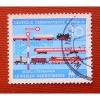 ГДР. Железнодорожный транспорт. ( 1 марка ) 1968 года.